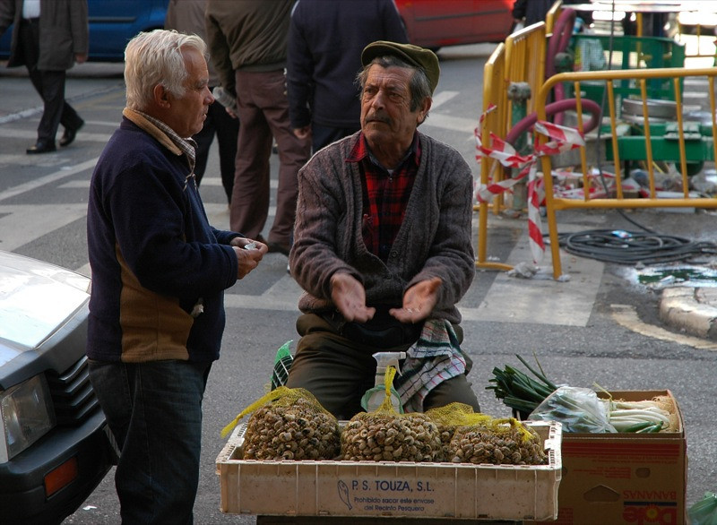 Clam Vendor - Malaga, Spain