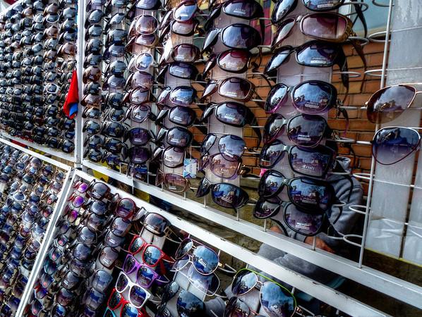 rack of sunglasses