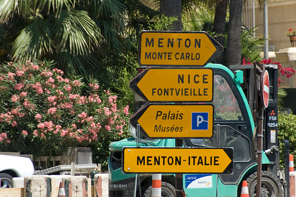 Road Signs in Monaco