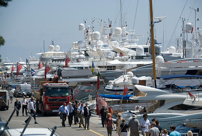 View of the yachts at Hercules Port in Monaco