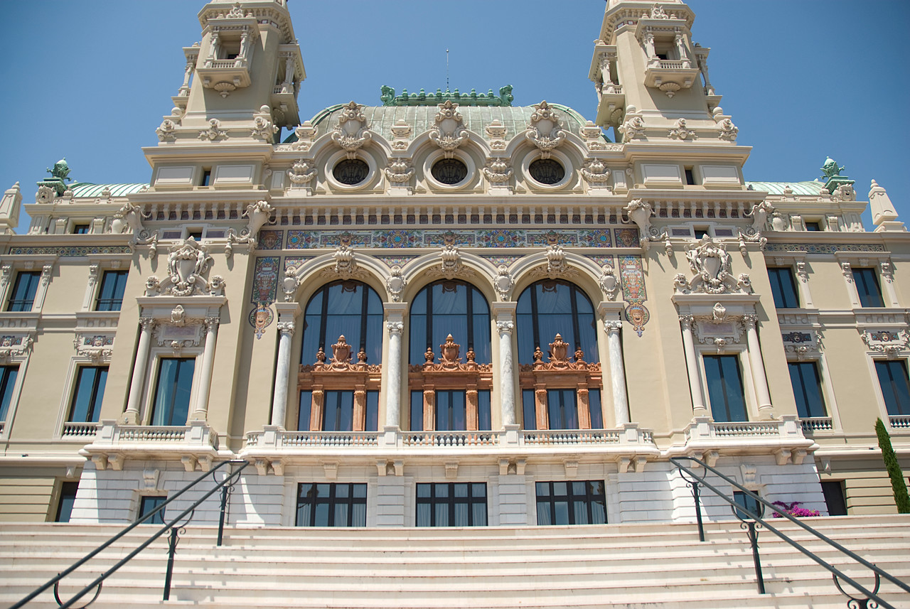 Monte Carlo Casino from the harbor side - Monte Carlo, Monaco