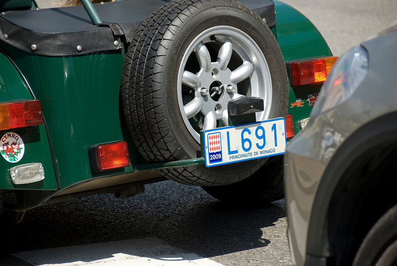 Principaute de Monaco vehicle license plate - Monte Carlo, Monaco