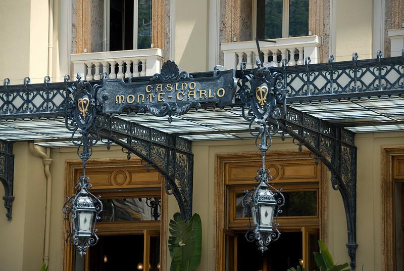Sign by the entrance of Casino Monte Carlo - Monaco