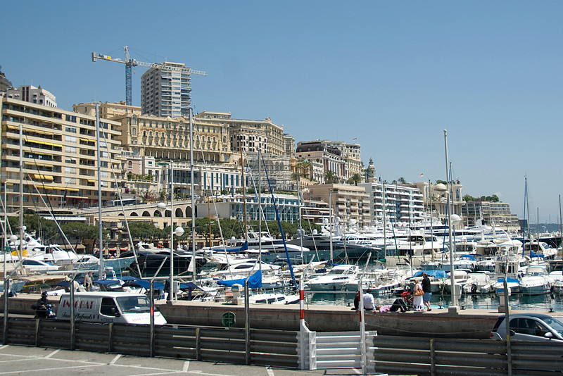 Hercules Port filled with yachts in Monaco