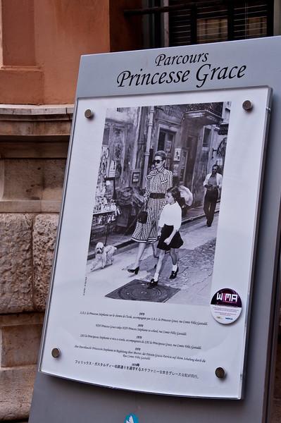 Princess Grace poster. Monaco.