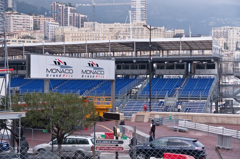 Grandstands at Grand Prix race track, Monaco