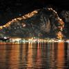 Kotor - L'arc-en-ciel de la forteresse illuminée