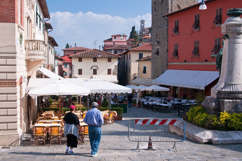 Central plaza. Upper city. Montecatini Terme, Italy