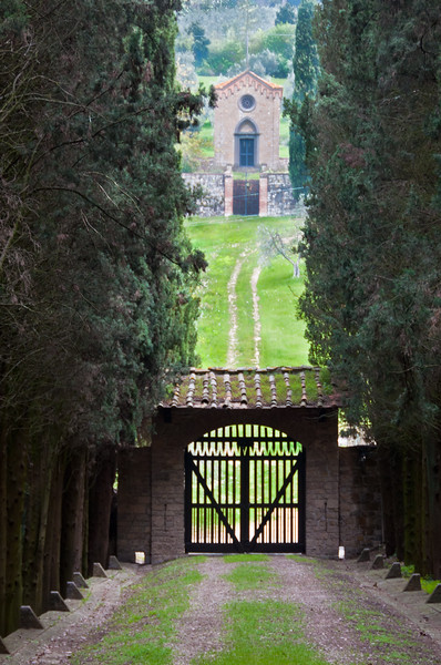 View from Castello Il Palagio in Tuscany region of Italy