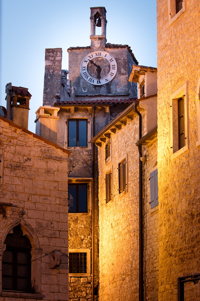 The ancient clock is intriguing, even if the time is wrong