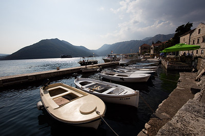 Nearby is the town of  Perast famous for its Church of the Rocks and boating