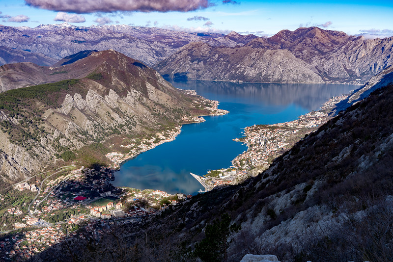 View of the Bay of Kotor, Montenegro