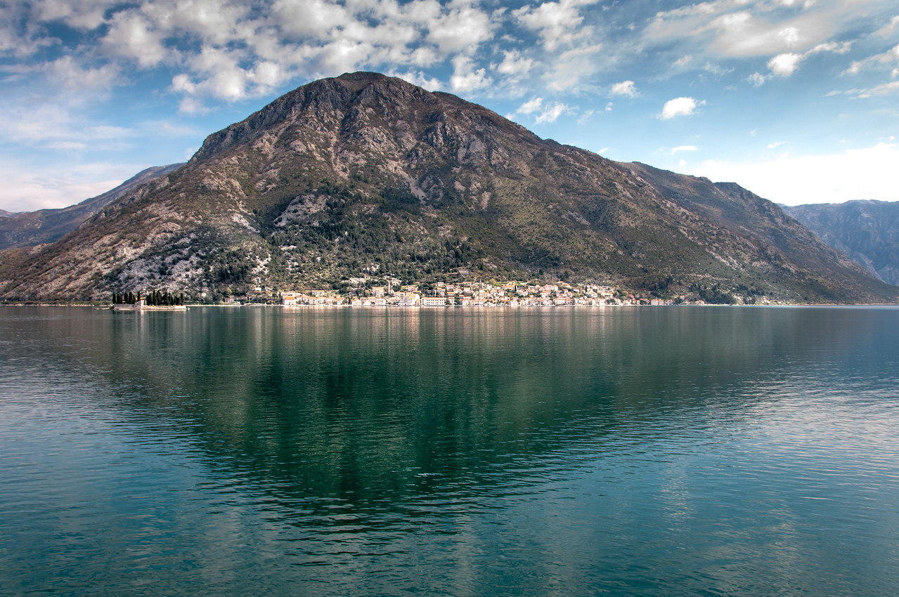 Kotor Bay and the mountain in Montenegro