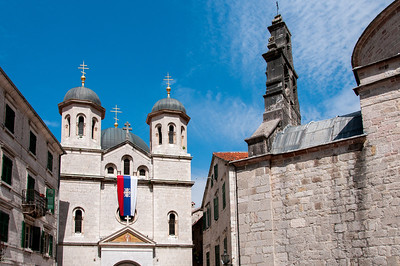 St. Nicholas church facade in Kotor, Montenegro