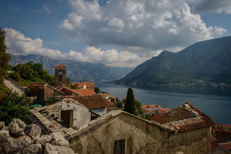 Bay of Kotor from Perast Montenegro