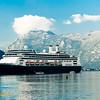 Holland America Rotterdam cruise ship docked in Kotor, Montenegro