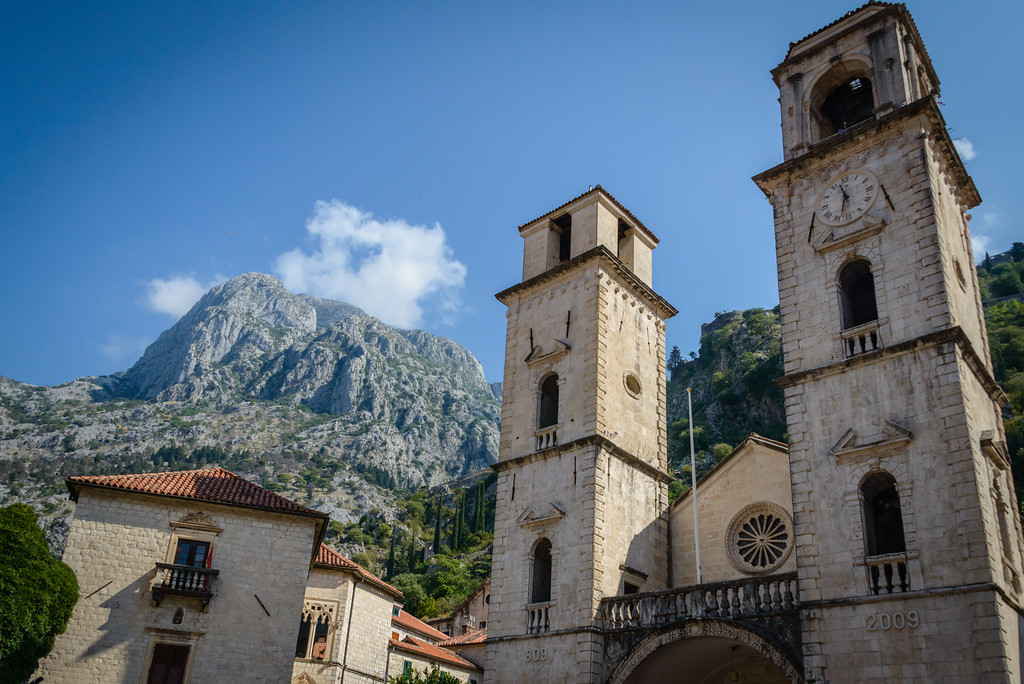 Cathedral and Mountains