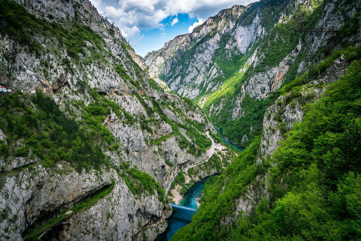 Piva River Canyon