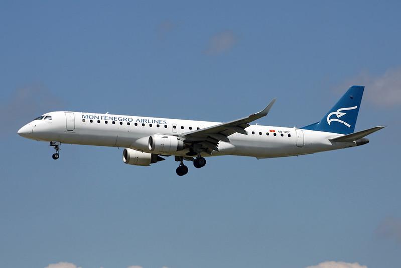 """4O-AOC Embraer Emb-195-200LR """"Montenegro Airlines"""" c/n 19000358 Frankfurt/EDDF/FRA 04-06-17"""