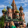 With Shannon in front of St. Basil's Cathedral - not tired at all!