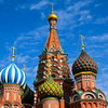 The onion domes of St. Basil's Cathedral