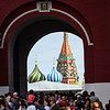 Going thru the Voskrenskye Gate into Red Square