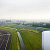 On approach to Schiphol Airport
