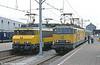 Alsthom Co-Co no. 1302 alongside 1627 'Gouda' at Hoek van Holland on 22nd July 1989.