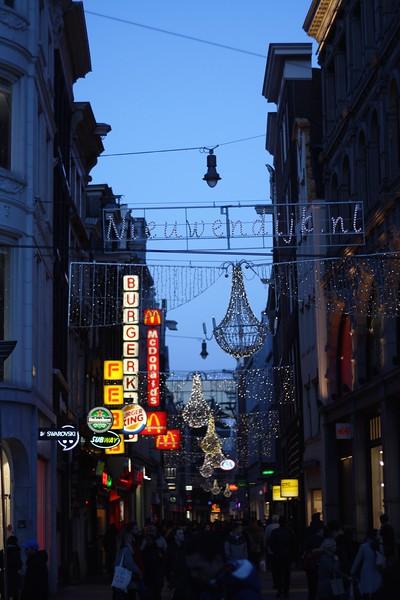 Evening lights near the city center. January 2013