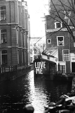 Graffiti on the canals. January 2013