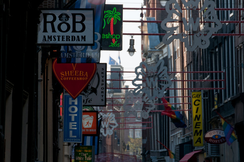 Commercial signs in Amsterdam, Netherlands