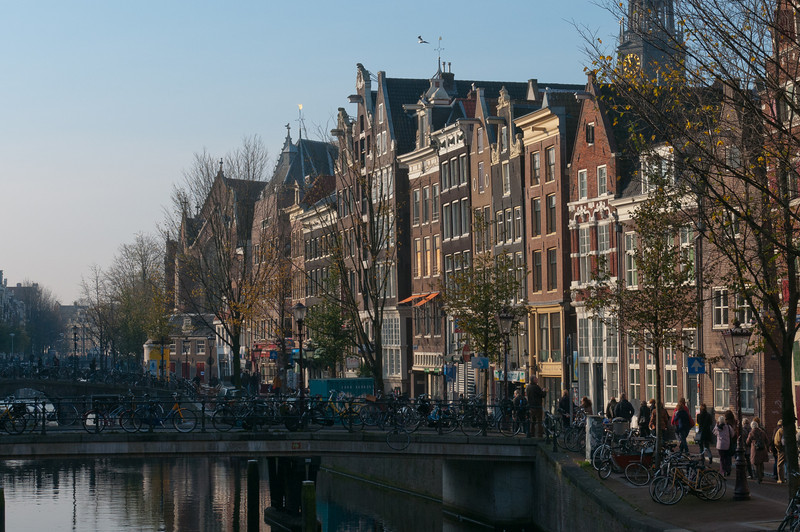 Street scene in Amsterdam, Netherlands