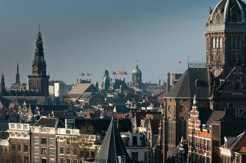 Skyline in Amsterdam, Netherlands