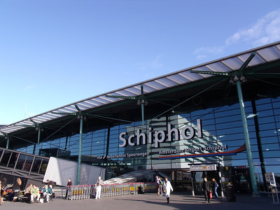 Amsterdam Schiphol Airport terminal entrance.