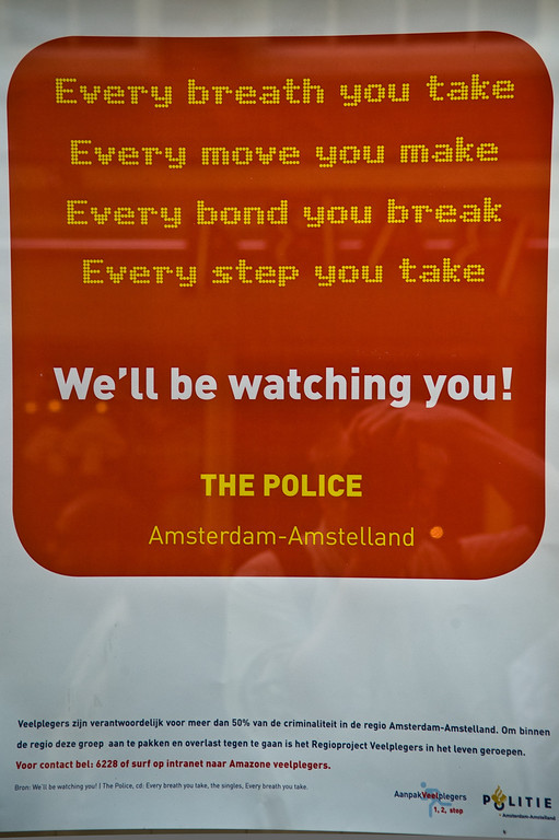 Police Posters in Amsterdam