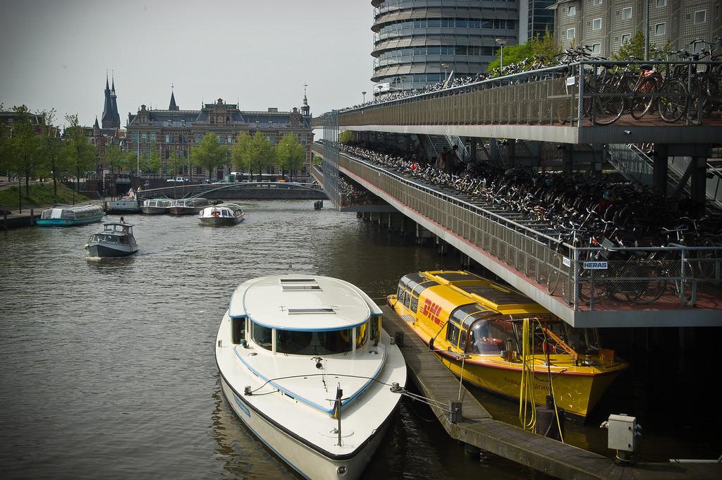 Bike Parking Ramp in Amesterdam