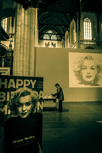 Celebration of the 90th birthday of Marylin Monroe in the Cathedral.