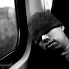 Hobo on the train, Amsterdam, Netherlands