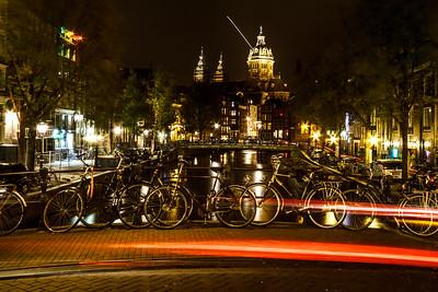 Beautiful Amsterdam by night.