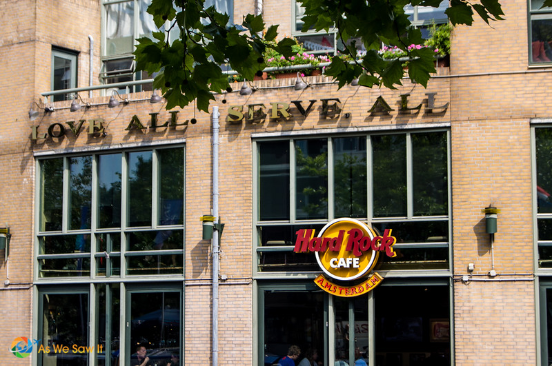 Amsterdam Hard Rock Cafe building and sign
