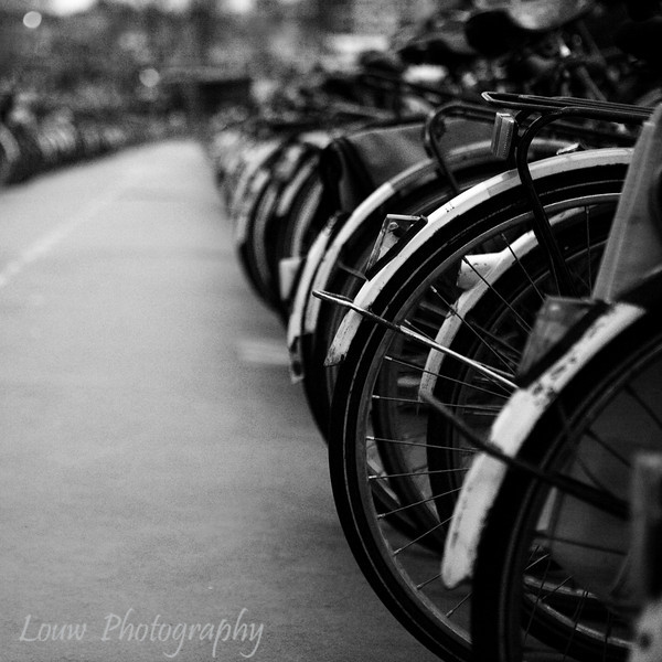 Bicycle parking garage near Amsterdam Centraal, Amsterdam, Netherlands