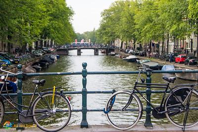 Bicycles on an Amsterdam bridge