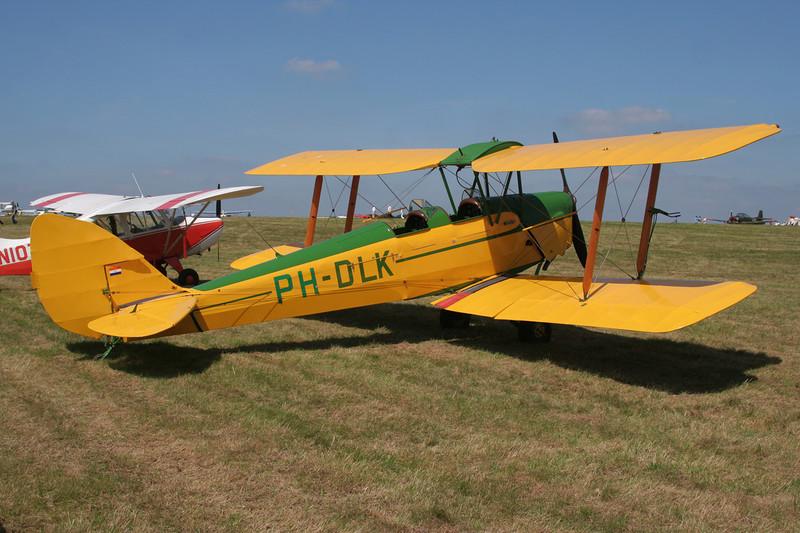 PH-DLK de Havilland DH-82A Tiger Moth c/n 85030 Schaffen-Diest/EBDT 11-08-07