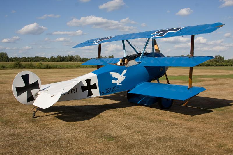 PH-EBF (155/17) Fokker Dr.1 Replica c/n 102 Hasselt-Kiewit/EBZH 29-08-09