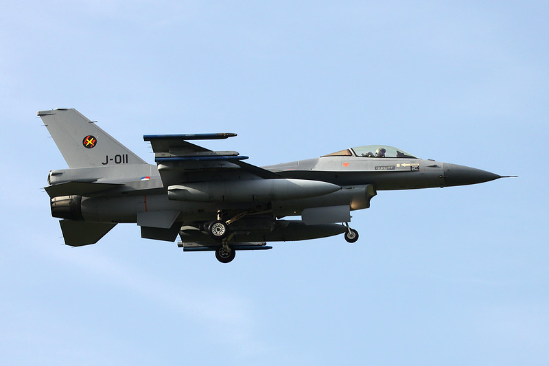 "J-011 General Dynamics F-16AM Fighting Falcon ""Royal Netherlands Air Force"" c/n 6D-167 Kleine-Brogel/EBBL 23-10-12"
