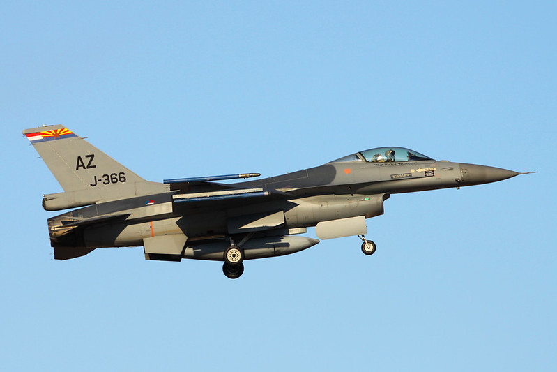 "J-366 (AZ) General Dynamics F-16AM Fighting Falcon ""Royal Netherlands Air Force"" c/n 6D-123 Tucson IAP/KTUS/TUS 14-11-16"