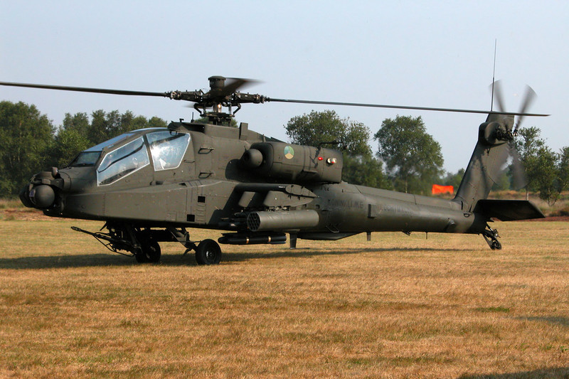 "Q-23 McD-D Helicopters NAH-64D Apache ""Royal Netherlands Air Force"" c/n DN23 Leopoldsburg/EBLE 11-08-03"