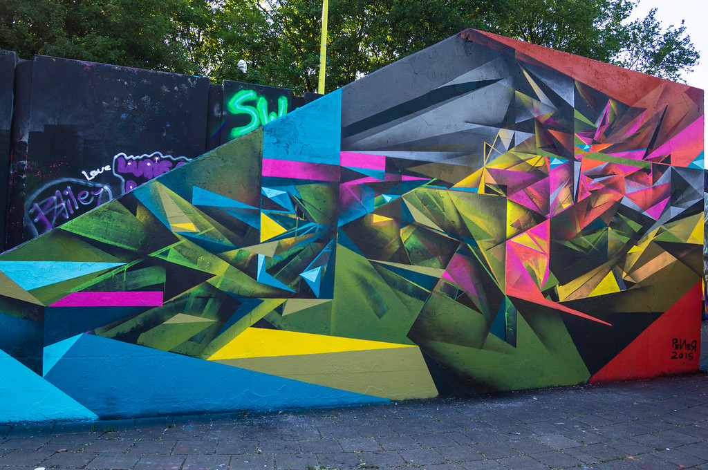 Mural by Pener at Step in the Arena 2015 in Eindhoven, Netherlands