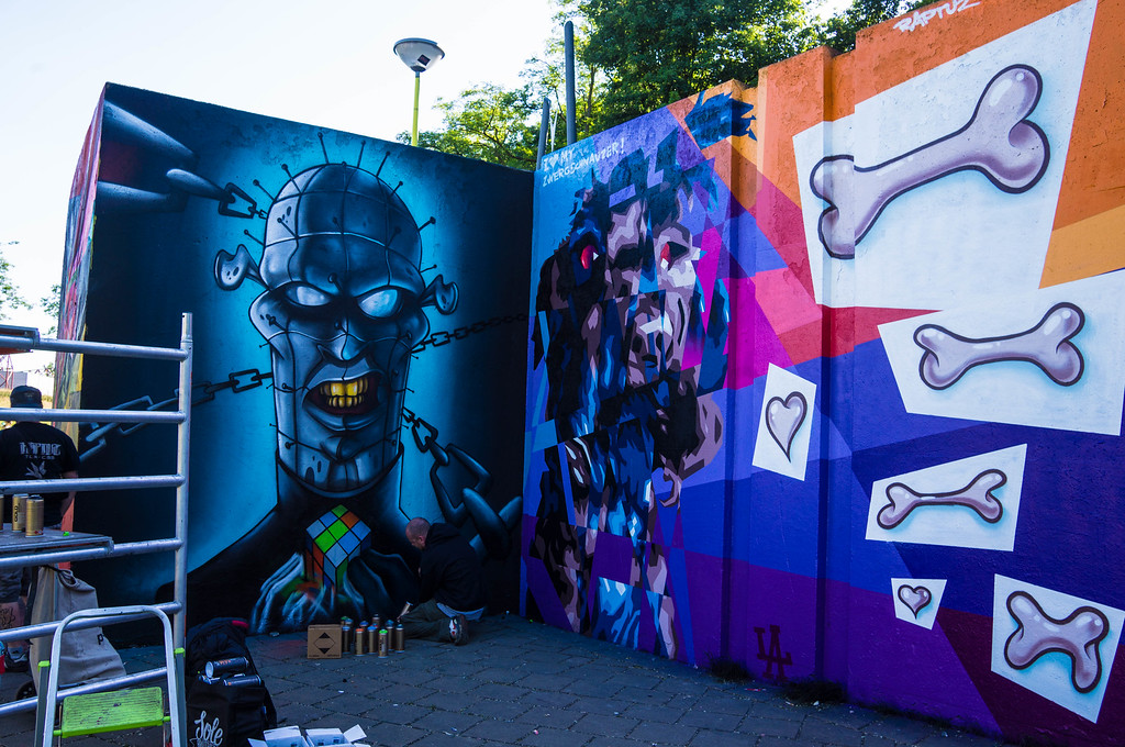 Murals by Sapo & Raptus at Step in the Arena 2015 in Eindhoven, Netherlands