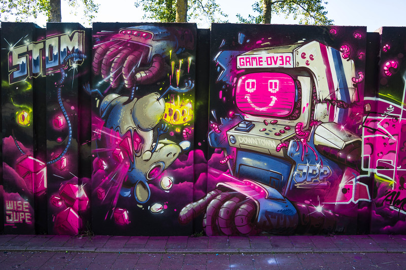 Mural by Stom 500 at Step in the Arena 2015 in Eindhoven, Netherlands